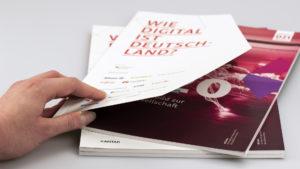Broschüre mit Klebebindung und gestanztem Umschlag