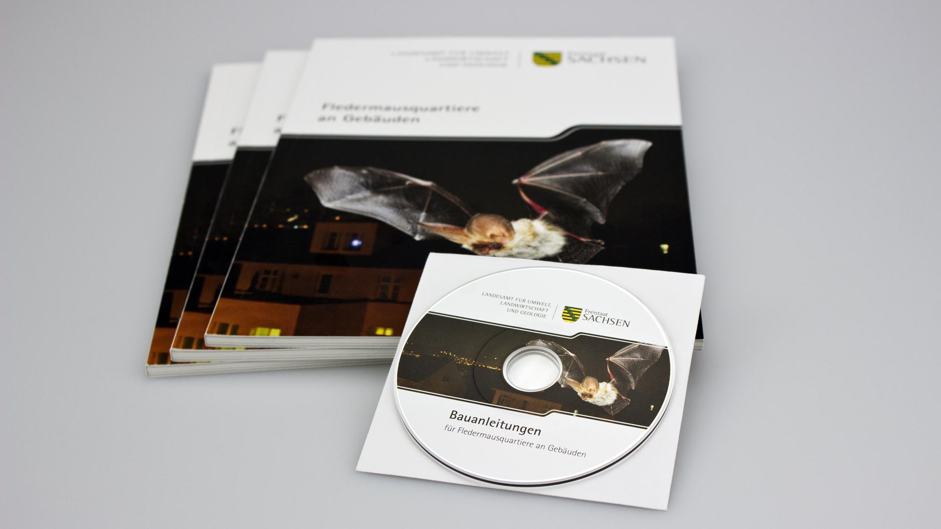 Broschüre mit Klebebindung und CD